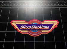Micro Machines 1980s toy logo vinyl Decal / Sticker 80s toys Galoob car truck