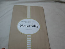 Peacock Alley Long Staple Cotton Set of Two Standard Pillowcases ~ Taupe 300 Tc