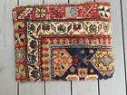 Knotted Antique Oriental Rug Pillow velvet back