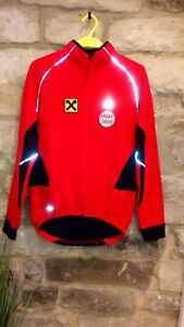 Adidas Climawarm Cycling Jacket RED Size M Great added team graphic!