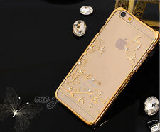 Luxury Case For Apple iPhone  5 5S PC Back Cover Crystal Butterfly