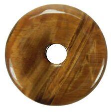Ojo de Tigre Donut Colgante Gema 40mm Piedra Cristal Pi Curativa