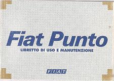 italienische Betriebsanleitung FIAT PUNTO libretto di uso e manutenzione 2001