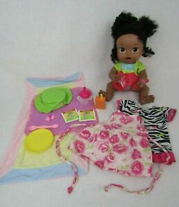 Baby Alive Super Snacks Snackin' Sara Doll African American Interactive Spa Eng