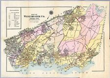 1914 Atlas Westchester County map plat New York old Genealogy Land Owner Dvd P48