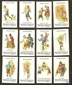 Faulkner cigarette cards - FOOTBALL TERMS 2nd series - Full mint condition set.