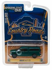 1:64 GreenLight *COUNTRY ROADS R15* Green 2015 Ford F150 Pickup Truck w/TOPPER
