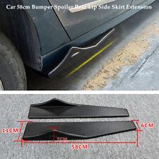 Pair 58cm Bumper Spoiler Rear Lip Side Skirt Splitters Winglet Wing Left+Right