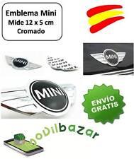EMBLEMA LOGO INSIGNIA CROMADO METALICO MINI ONE COOPER 12 X 5 CM MALETERO CAPO