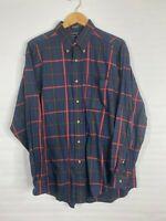 Men's Long Sleeve Button Down Shirt, Plaid, Hathaway Sport , Size L,