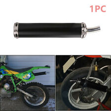 Sturdy 20MM Motorcycle Racing Black Exhaust Muffler Pipe Silencer 2 Stroke Fine
