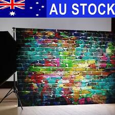 AU 7x5FT Graffiti Brick Wall Vinyl Backdrop Photography Background Studio Props