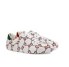 NIB GUCCI men GG print Ace sneakers -size G 10/US 10.5;
