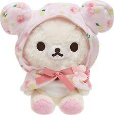 Rilakkuma SAN-X Wearing Sakura Cape Plush Doll Cloak Costume Toy Sister Gift