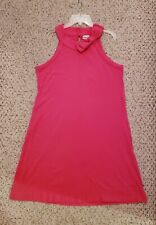 Newport News Sleeveless Bow Tie Detail Dress, Hot Pink SIZE Medium