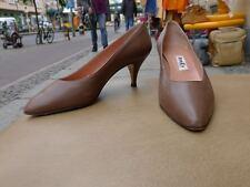 BOOTS BERLIN Damen Schuhe Pumps VINTAGE Gr. 38,5 UK 5,5 Braun Leder Vtg.