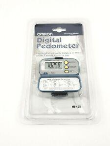 Omron Digital Pedometer, HJ-105, Counts Steps, Calories Burned