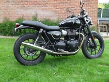Triumph Street Twin Tubo de Escape Norman Hyde Peashooter Cromo Toga