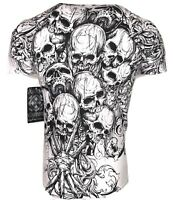 XTREME COUTURE by AFFLICTION Men T-Shirt THE ACCUSER Skull Biker MMA GYM S-4X$40