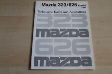 87899) Mazda 323 626 Kombi - technische Daten & Ausstattungen - Prospekt 09/1990