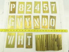 Brass Lockedge Gothic Stencils Assortment Art Project Lot Of 60+