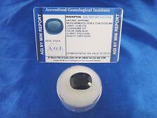 Natural Dark Blue Sapphire Cushion 14.96 Cts Certified Appraisal $1050 AGI BS38