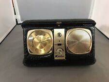 Vintage Kenton Travel Alarm Clock Alarm AM Radio Windup Broke For PARTS/REPAIR