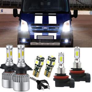 For Ford Transit MK7 100w White Xenon HID High/Low/Fog/Side Headlight Bulbs set