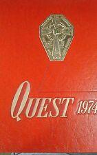BROTHER RICE HIGH SCHOOL YEARBOOK~BIRMINGHAM,MI~1974 QUEST~SHIPS FREE