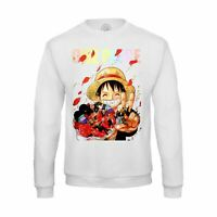 Sweat-shirt Homme luffy chapeau de paille romantique manga one piece