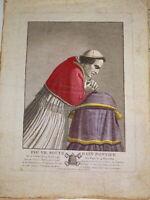 d'ap. DAVID GRAVURE PORTRAIT PAPE PIE VII PARIS NAPOLEON EMPIRE VATICANO 1805