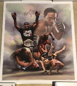 Jon Bones Jones Autographed Canvas Print