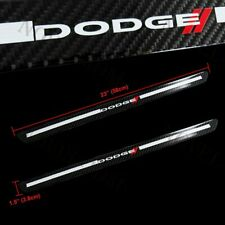 2PC For Dodge Carbon Fiber Car Door Welcome Plate Sill Scuff Cover Decal Sticker