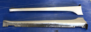 Hyundai i40 Saloon Outer Trim Side Skirt Driver Passenger Pair Silver 2010-2015
