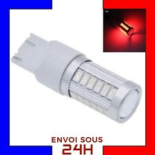 1 Ampoules 33 LED T20 7443 W21 5W Rouge Ampoule Stop Veilleuse W21/5W Frein red