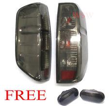 Tail light Lamps Black Smoke Lens Pair Fit Nissan Frontier Navara D40 Tekna 05+