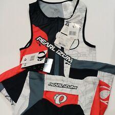 Pearl Imuzi Men Run/Ride Elite Short Set New Cycling RedBlack White size Medium