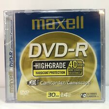 Maxell DVD-R Video Camcorder Blank 30 MInutes 1.4GB 5 Pack Lot High Grade