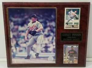 N) Rare Vintage Sidney Ponson Baltimore Orioles Baseball Wall Plaque