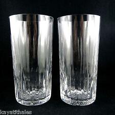 Grands Verres (x2) Cristal SAINT-LOUIS eau/whisky/daum/baccarat/crystal 20th