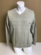 Mens Vintage Chemise Lacoste Cream V Neck Jumper Sweater Medium A38