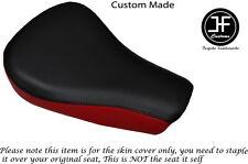 BLACK DARK RED VINYL CUSTOM FOR HARLEY DAVIDSON SPORTSTER 883 48 FRNT SEAT COVER