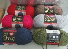 YARN RED HEART-WITH LOVE METALLIC..8 COLORS TO CHOOSE FROM