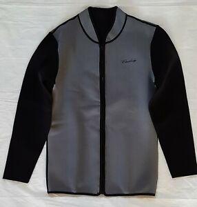 Scuba Diving Jacket Women's  Medium Gray and Black 3mm Neoprene/Polyester NWOT