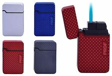 Windproof Single Blue Flame Child Safe Turbo Gas Refillable Lighter