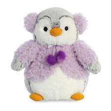 PomPom The Penguin with Purple Jacket and Earmuffs 9″ (23 cm)