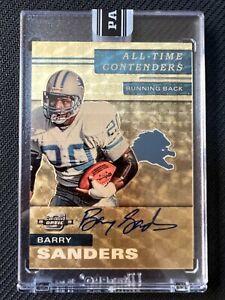 2021 Panini Black Box Contenders Optic Barry Sanders Auto Gold Vinyl 1/1