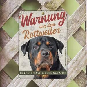 Rottweiler Warnschild 15 x 21cm | Hunde Schild wetterfest | Hundeschilder Art-9S