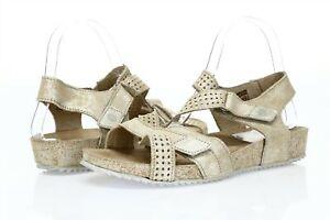 Josef Seibel Women's champagne suede ankle strap sandals sz. 40