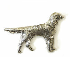 Large Munsterlander Brooch, Silver Plated